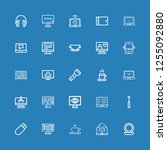 editable 25 portable icons for... | Shutterstock .eps vector #1255092880