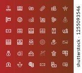 editable 36 earning icons for... | Shutterstock .eps vector #1255093546