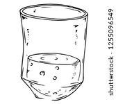 shot glass icon. vector... | Shutterstock .eps vector #1255096549