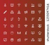 editable 36 antenna icons for... | Shutterstock .eps vector #1255097416