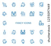 editable 22 fancy icons for web ... | Shutterstock .eps vector #1255097449
