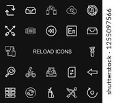 editable 22 reload icons for... | Shutterstock .eps vector #1255097566