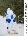 Russian Santa Claus On A Walk...