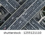 aerial view of highway and... | Shutterstock . vector #1255121110