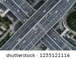 aerial view of highway and... | Shutterstock . vector #1255121116