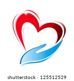 hand holding a heart icon ... | Shutterstock . vector #125512529