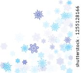blue paper snowflakes flying... | Shutterstock .eps vector #1255128166