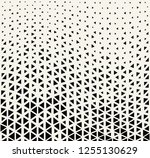 triangle halftone seamless... | Shutterstock .eps vector #1255130629