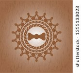 bow tie icon inside wooden... | Shutterstock .eps vector #1255133023