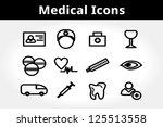 medical icons. clean aid... | Shutterstock .eps vector #125513558