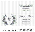 vector template for wedding...   Shutterstock .eps vector #1255136539