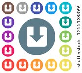 download flat white icons on... | Shutterstock .eps vector #1255138399