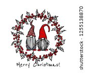 vector christmas card with hand ...   Shutterstock .eps vector #1255138870
