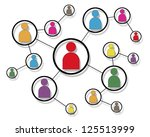 social network icon map | Shutterstock . vector #125513999