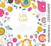 vector illustrations. frame for ... | Shutterstock .eps vector #1255140409