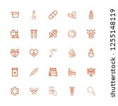 editable 25 medication icons... | Shutterstock .eps vector #1255148119