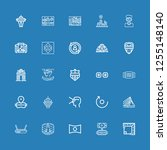 editable 25 panorama icons for... | Shutterstock .eps vector #1255148140
