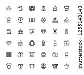 editable 36 textile icons for... | Shutterstock .eps vector #1255148143