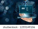 http 404 error not found page... | Shutterstock . vector #1255149106