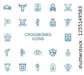editable 22 crossbones icons...   Shutterstock .eps vector #1255149583