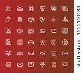 editable 36 news icons for web...