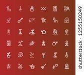 editable 36 soil icons for web... | Shutterstock .eps vector #1255150249