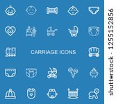 editable 22 carriage icons for... | Shutterstock .eps vector #1255152856