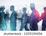 business team members... | Shutterstock . vector #1255154356
