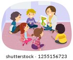 illustration of stickman kids... | Shutterstock .eps vector #1255156723