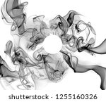 smoke on a white background | Shutterstock . vector #1255160326