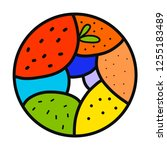 vegetables and fruits hand...   Shutterstock .eps vector #1255183489