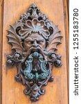 Antique Bronze Door Knocker In...