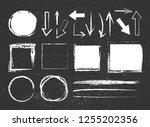 chalk graphic elements... | Shutterstock .eps vector #1255202356