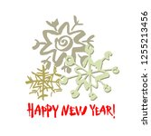 happy new year text. white... | Shutterstock .eps vector #1255213456