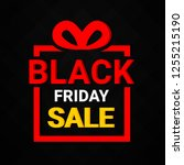 black friday sale background.... | Shutterstock .eps vector #1255215190
