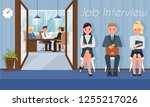 job interview and recruiting.... | Shutterstock .eps vector #1255217026