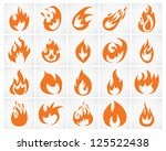set of various fire elements.... | Shutterstock .eps vector #125522438