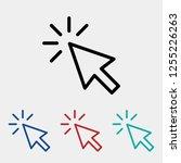 cursor click icon vector | Shutterstock .eps vector #1255226263