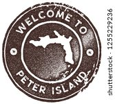 peter island map vintage stamp. ... | Shutterstock .eps vector #1255229236