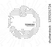 abstract technology background. ... | Shutterstock . vector #1255231726
