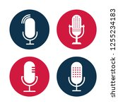 set of radio icon illustrations.... | Shutterstock .eps vector #1255234183