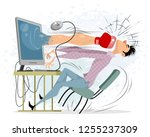 vector illustration of young... | Shutterstock .eps vector #1255237309