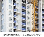 building and crane construction ...   Shutterstock . vector #1255239799