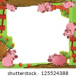 cartoon farm frame  ...   Shutterstock . vector #125524388
