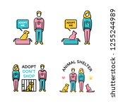 vector adopt don t shop design... | Shutterstock .eps vector #1255244989