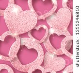 valentines day seamless pattern ... | Shutterstock .eps vector #1255246810