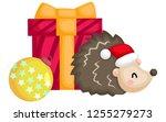 a vector of a cute santa... | Shutterstock .eps vector #1255279273