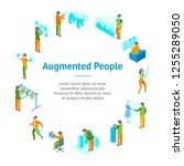 virtual augmented people 3d...   Shutterstock .eps vector #1255289050