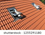 skylight on a residential home | Shutterstock . vector #1255291180