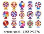 roulette fortune spinning... | Shutterstock . vector #1255293376